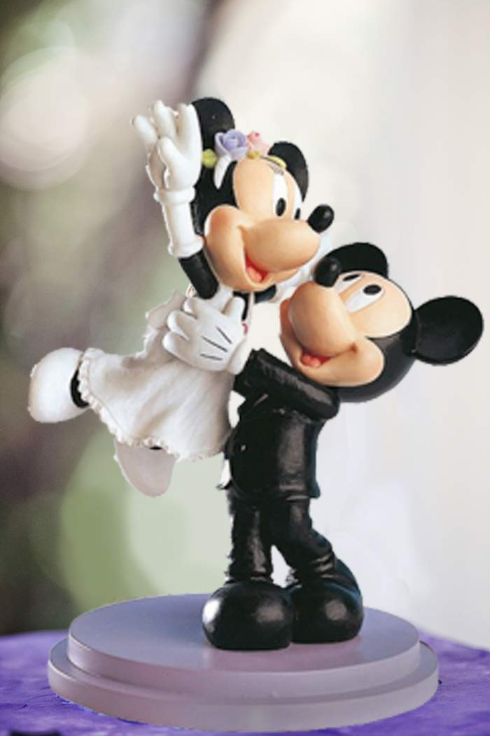 Figura Mickey & Minnie volando